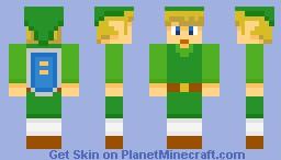 Toon Link Minecraft Skin