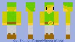 Toonlink (zelda) Minecraft Skin