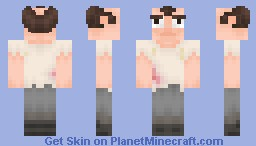 "Trevor - Gta V - Sweat stains, Bullet wound.  ""Much Better On 3D"" Minecraft Skin"