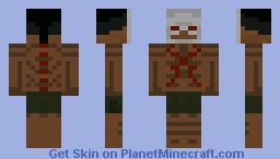 Skeleton Mask Tribal Warrior Minecraft Skin