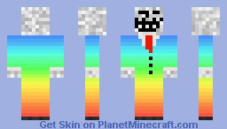 Troll Face In Rainbow Suit Minecraft Skin