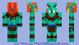 Troll Huntress/Shaman Minecraft Skin