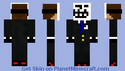 Troll mask guy in suit Minecraft Skin