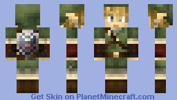 Twilight Princess: Link (Hylian shield)---Now, better shadin'--- Minecraft Skin