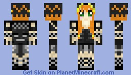 Wither Girl Minecraft Skin