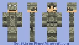 USAF Airman Battle Uniform / US Army Army Combat Uniform (ABU / ACU) Minecraft Skin
