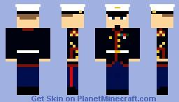 USMC Class A Dress Uniform Minecraft Skin