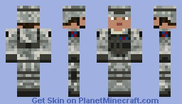 US soilder(diamond if you like) Minecraft