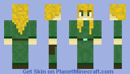 Wood Elf (male, un-hooded) Minecraft Skin