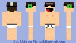 Nude Hipster Minecraft Skin