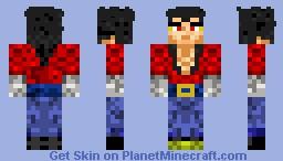 Vegeta Super Saiyan 4 [Looks Better In 3D] Minecraft Skin