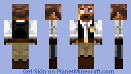monacled victorian explorer Minecraft Skin