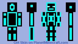 Cyan Vine Minecraft Skin
