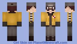 Human WALL-E (w & w/o goggles) Minecraft Skin