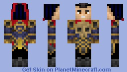 Warring Kingdoms Jarvan IV Minecraft Skin