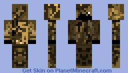 Wasteland Camo Ghillie Minecraft Skin