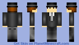Bowler hat and Suit - For my friend wippy98! Minecraft Skin