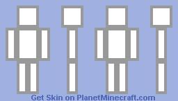 white Minecraft Skin