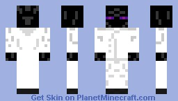 ender white smoking Minecraft Skin