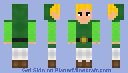 Legend Of Zelda - Link (Better in 3D !!!) Minecraft Skin