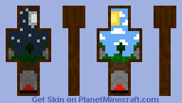 Day and Night Minecraft Skin