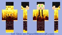 Blaze Hoodie Minecraft Skin