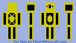 Yellow Neon Chemist Minecraft Skin