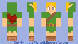 Young Link, Ocarina of time Minecraft Skin