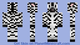 Zebra Minecraft Skin