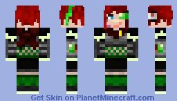 Zoeya or Zoey Blackrock Rising Skin Minecraft Skin