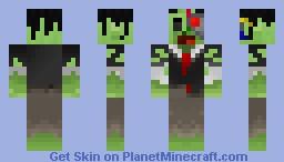 Robotically-enhanced zombie buisness man Minecraft Skin