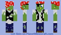 """""""Dusty's Customz"""" Zombie Pirate Minecraft Skin"""
