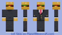 C.B.I.S (cheese burger in suit) Minecraft Skin
