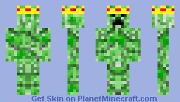 SSSSSSsssss....AHHH CREEPER KING! Minecraft Skin