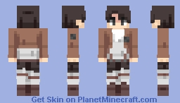 A character from Attack of the Titans Minecraft Skin