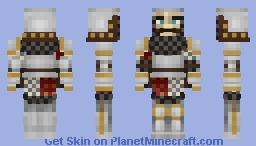Late 14th Century Open Face Bascinet Knight Minecraft Skin