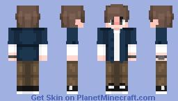 HuniePop Protaginist (The Player) Minecraft Skin