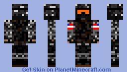 U.S.M.C Marine Black Camo Minecraft Skin