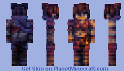 𝗘𝗕𝗢𝗡𝗬 𝗗𝗘𝗡𝗗𝗘𝗥𝗔 | Desert-Girl OC Minecraft Skin