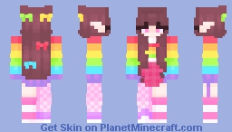 rainbow ・゚:*(*◕ω◕)ノ Minecraft Skin