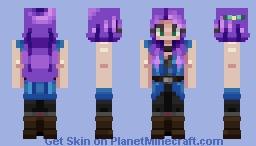 Abigail from Stardew Valley Minecraft Skin