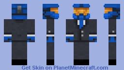 Fancy Blue Halo Spartan (BLUE TIE) Minecraft Skin