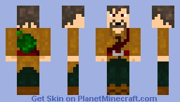 Adventurer with green backpack Minecraft Skin