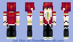 [Kari] Magasa Ikuya || The Festive Monster's Cheerful Failure Series Minecraft Skin