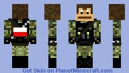 Polish Army Monkey Minecraft Skin