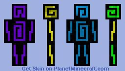 Aether themed skin Minecraft Skin