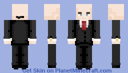 Mr. Rieper, please follow me to your suite ~ Agent 47 ⚔ Minecraft Skin