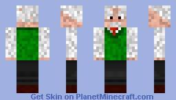 Albert Einstien Minecraft Skin