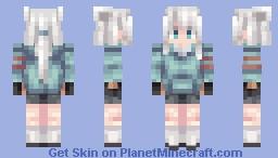 White Cat Minecraft Skin
