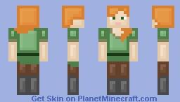 Simplistic Alex Minecraft Skin